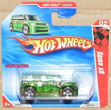 HOT WHEELS 2010 RACE WORLD SCION XB #02/04 GREEN SHORT CARD W+