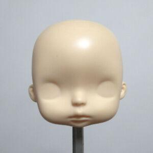 OOAK PVC Doll Head Unpainted Face Hard Head