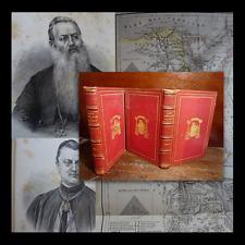 LEGATURA ARTISTICA ALLE ARMI - GIUSEPPE VALEGRA 1869 - VIAGGI EGITTO ILLUSTRATO
