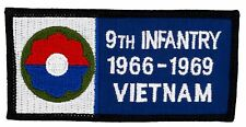 """9th Infantry 1966-69 Vietnam Patch (257) 4"""" x 2"""" Embroidered Patch 70718"""