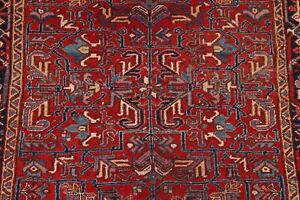 Vintage Vegetable Dye All-Over Geometric 6x8 ft. Red Heriz Hand-Knotted Area Rug
