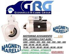 MOTORINO AVVIAMENTO MARELLI IVECO -OM-MACCHINE AGRICOLE 12V = 63216831 = MT68AD