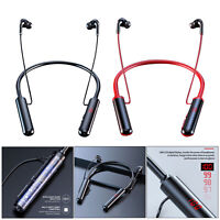 Bluetooth Headphones, Neckband Bluetooth 5.0 Wireless Headset Earbuds, LED power