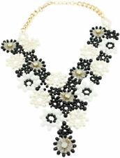 Schwarze Modeschmuck-Halsketten & -Anhänger im Collier-Stil mit Kristall