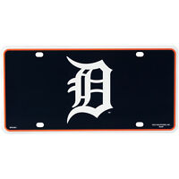 DETROIT TIGERS LASER CUT CAR TAG LICENSE PLATE LOGO SIGN BASEBALL MLB