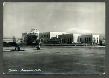 AEROPORTO CIVILE DI CATANIA - LINEE AEREE ITALIANE- Cartolina VG. 1954