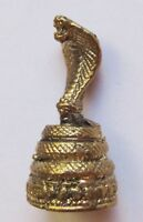 Figurine statuette Cobra serpent sur socle naja décoration collection bronze