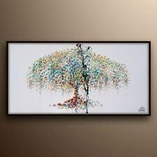 "Tree painting 55"" weeping willow tree, Beautiful modern look, original handmade"