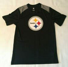 PITTSBURGH STEELERS BLACK/GRAY NFL BIG LOGO TEE FAN T-SHIRT BOYS YOUTH SZ LARGE