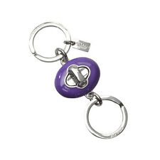 NWT Coach Purple And Silver Chubby Back Valet Key Chain  F63986