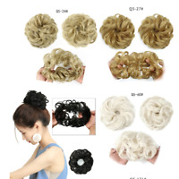 Synthetic Hair Flexible Scrunchie Wrap For Wave Curly Hair Bun Ponytail Useful