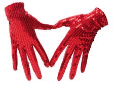 Gants enfants sequin brillants paillettes rouges fête costume déguisement
