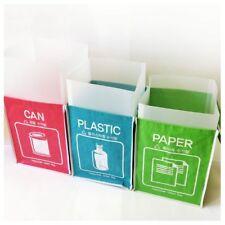 Recycle Bag Separate Recycle Bin Waterproof Wastebaskets with Inner Frame