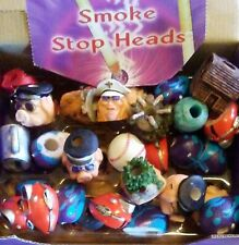 Lot Of 6 Butt Snuffers Smoke Stop Heads Cigarette ashtray resin all new