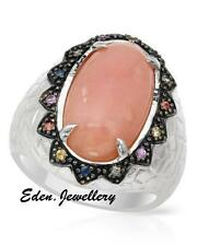 $500 Super Gorgeous FPJ Ring GENUINE Opal Sapphires 925 Sterling Silver 70% OFF