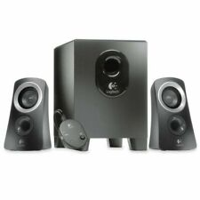 Logitech - Z313 2.1-Channel Speaker System (3-Piece) - Black/Silver