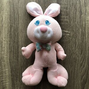 Vintage Fisher Price 1994 Pink Thermal Cozies Bunny Rabbit Plush Baby Toy