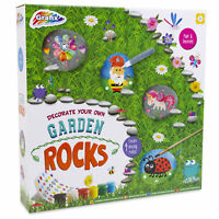 Decorate Paint Your Own Garden Rocks Fun Craft Activity Christmas Gift Kids Fun