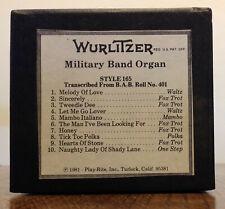 Wurlitzer Military Band Organ Roll, Style 165 from B.A.B. #401