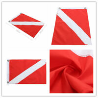 Big Diver Down Boat Pennant Flag Scuba Diving Banner International Sign 50*35cm