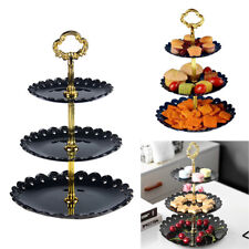 3-Tier Plastic Cake Display Stand Tower Fruit Snacks Plate Holder Wedding Decor