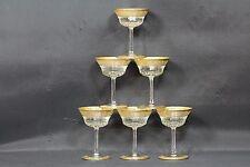 6 x Saint Louis Champanger Schalen Tistle Gold