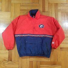 Vintage CHICAGO BEARS Starter Jacket XL Pullover Red Blue Hoodie