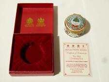 Christmas 1988 Halcyon Days Enamel Trinket Box Limited Edition BOXED #B8