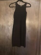 French Connection Black Dress Sleevess Exposed Back Zipper Size 0