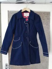 NESS EVELYN NAVY TRENCH COAT SIZE:UK 8