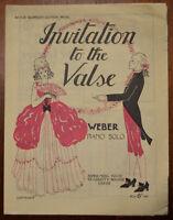 Invitation To The Valse by C. M. v. Weber – piano solo – Pub.1930