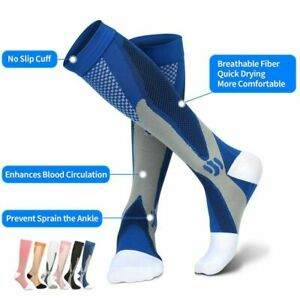 Running Compression Socks Stockings Sports Socks for Marathon Cycling Football
