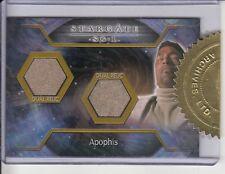 Stargate SG1  dual costume relic Apophis
