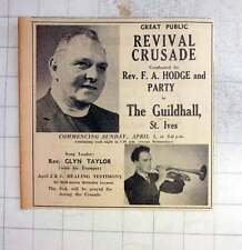 1962 Great Public Revival Crusade, Fa Hodge, Glyn Taylor With Trumpet