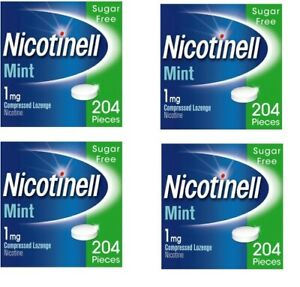 Nicotinell 1mg mint lozenges regular strength 204 pieces 4xPACK