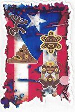 """PUERTO RICO FLAG """"TAINOS"""" VINYL CAR STICKER"""