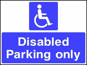 NO PARKING DISABLED RESIDENT NEEDS THIS SPACE 3mm PLASTIC SIGN AND STICKERS