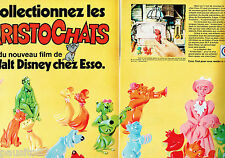 PUBLICITE ADVERTISING 115  1971  ESSO  Walt disney ( 2p)  les Aristochats *