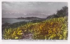 Olympic Mountains from Oak Bay VICTORIA B.C. Canada Gowen Real Photo Postcard 78