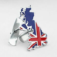 3D Metal UK Union Jack Flag Map Car Front Grille Badge Emblem W/ Mount Gift Box