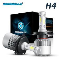 H4 COB LED Bulb HID White 360° Hi/Low Beam Motorcycle Headlight 6500K High Power