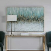 """HUGE DIVIDE PAINTED CANVAS XXL 61"""" ABSTRACT PAINTING WALL ART UTTERMOST 31328"""