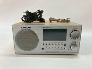 Sangean WR-2 FM-RBDS / AM Wooden Cabinet Digital Tuning Radio Receiver in Walnut