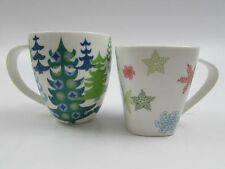 Lot of 2 Starbucks Christmas Holiday 2005 2006  snowflakes Trees Coffee Cup