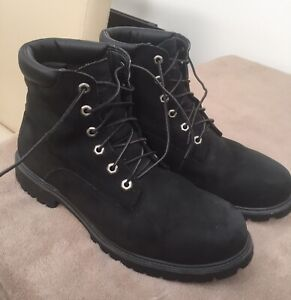 Black Timberland Mens 6 Inch Classic Premium Boots Size 11