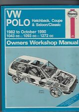 HAYNES VW POLO HATCHBACK - COUPE - SALOON/CLASSIC MANUAL 1982 TO 1990