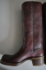 "Vintage Boots Campus Style Made in Texas Women's Burgandy Leather 7 1/2M ""Frye"""