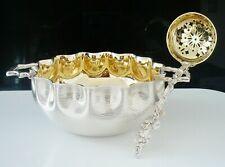Antique Silver Plate Sugar Bowl & Sifter Ladle, Cased, Elkington 1876