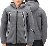 Boys Zipper Athletic Hoodie Sherpa Lined Juniors Sweater Kids Toddler Jacket