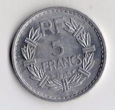 TOP QUALITE MONNAIE DE 5 FRANC LAVRILLIER ALU DE 1945 B @ BEAUMONT LE ROGER !!